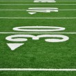 Stock Photo: Thirty Yard Line on AmericFootball Field