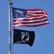Stock Photo: Americand POW-MIFlag