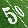 View From Above of Fifty Yard Line on American Football Field — Stock Photo #6643734