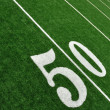 View From Above of Fifty Yard Line on American Football Field — Stock Photo #6643926
