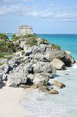 Ruinas mayas de tulum, en méxico — Foto de Stock