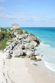 Maya ruïnes op tulum in mexico — Stockfoto