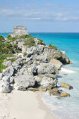 Mayan Ruins at Tulum in Mexico — Stock Photo