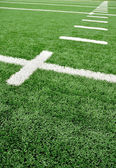 Hash Marks on American Football Field — Stok fotoğraf