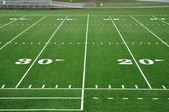 Twenty and Thirty Yard Line on American Football Field — Stock Photo