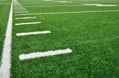 Sideline on American Football Field — Stock Photo