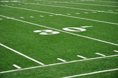 Thirty Yard Line on American Football Field — Foto Stock