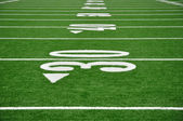 Thirty Yard Line on American Football Field — Stock Photo