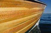 Wood Strip Boat — Stock Photo