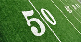 View From Above of Fifty Yard Line on American Football Field — Stock Photo