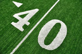View From Above of Forty Yard Line on American Football Field — Stock Photo
