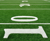 Ten Yard Line on American Football Field — Stock Photo