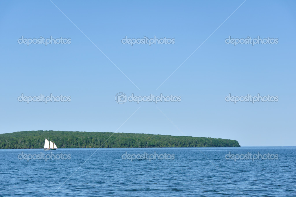 Schooner Sailboat Sailing on a Beautiful Summer Day — Stock Photo #6642921
