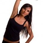 Exercise woman — Stock Photo