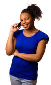 Woman with mobile phone. — Stock Photo