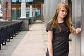 Město dívka — Stock fotografie