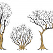 Withered trees - Stock Photo