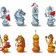 Chess pieces set - Stock Photo