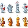 Chess pieces set — Stock Photo