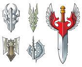 Horrendous set: Swords and Artifacts — Stock Photo