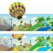 Flying balloon — Stock Photo