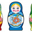 Stock Photo: Russinesting dolls – matryoshka
