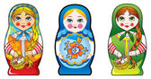 Russian nesting dolls – matryoshka — Stock Photo