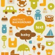 Set of beautiful baby icons — Imagen vectorial