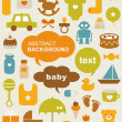 Set of beautiful baby icons — Stock Vector #6224419