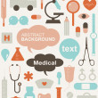 Vector de stock : Collection of medical themed icons and warning-signs