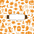 Cute Halloween background — Stock Vector