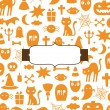 Cute Halloween background - Stock Vector