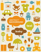 Set of beautiful baby icons — Stock Vector