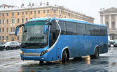 Blue bus — Stockfoto
