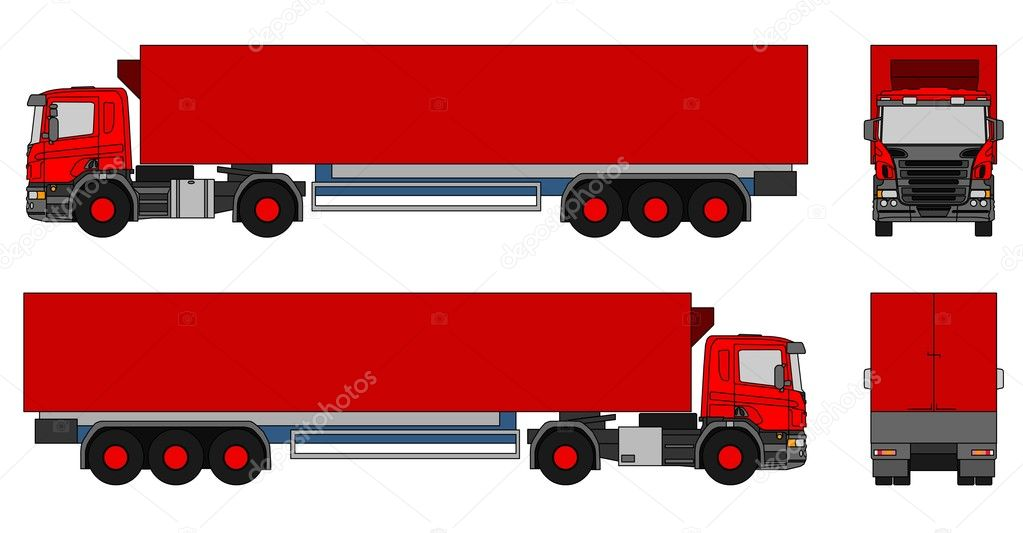 An illustration of a semi-trailer truck — Stock Photo #5693070