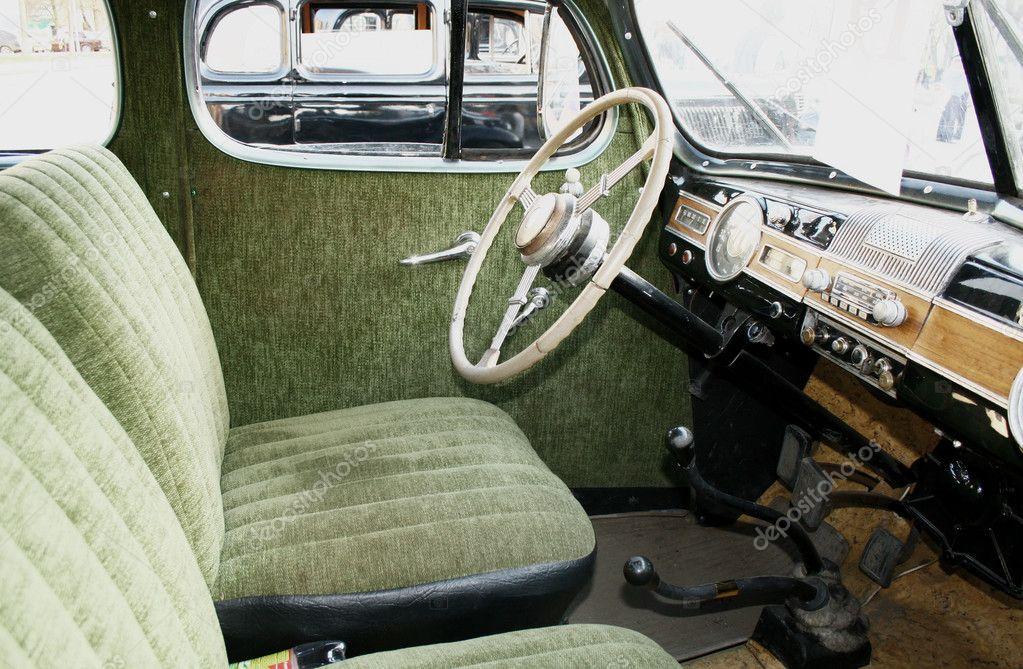 retro car interior stock photo artzzz 5917091. Black Bedroom Furniture Sets. Home Design Ideas
