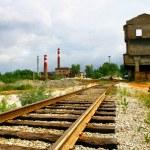 Deserted railway — Stock Photo