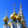 Stock Photo: Golden cupolas