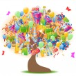Royalty-Free Stock Vector Image: Birthday gifts tree