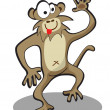 Cartoon funny monkey — Stock Vector