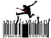 Rock music bar code — Stock Vector