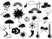 Black weather icon — Stock Vector