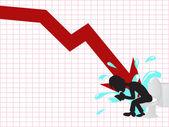 Business crash — Stock Vector