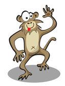 Cartoon funny monkey — Stock Vector