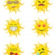 Royalty-Free Stock 矢量图片: Sun Cartoon Characters