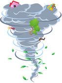 The sign of tornado — Stock Vector