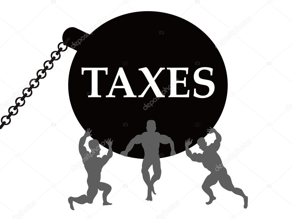The comcept of taxes burden — Stock Vector #6420172