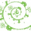Spiral green - Stock Vector