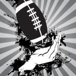 Hands catching an American football — Stock Vector