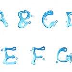 Water drop type font — Stock Vector #6739619